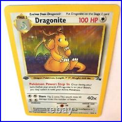 Dragonite 1st First Edition 4/62 Fossil Mint Holo Pokemon Card 1999 PSA unknown
