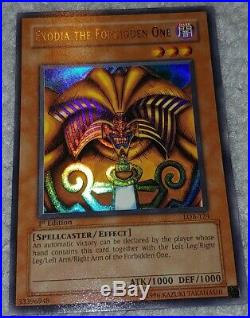 EXODIA THE FORBIDDEN ONE LOB-124 1st Edition Ultra Rare Holo YuGiOh Card