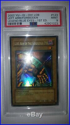 Exodia Forbidden One Left Right Arm Leg LOB 120 121 122 123 124 1st Edition Wavy