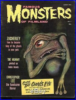 Famous Monsters #4 Variant Edition 1959 Ghoul's Eye Ride Sticker Ultra Rare Htf