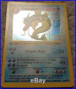 Gyarados 6/102 1st Edition First Ed Base Set Holo Foil Pokemon Card