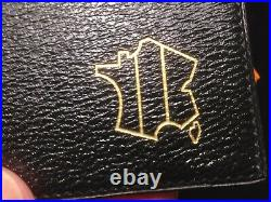 HERMES BILLFOLD Embossed Gold French Map Unique or Ultra-Rare Limited Edition
