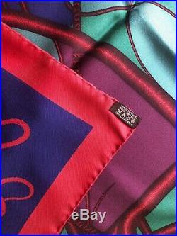 Hermes Carre 90 Coup De Fouet 100% Silk Soie Ultra Rare Limited Edition