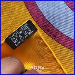 Hermes Foulard Carre 90 Camails New 100% Silk Soie Ultra Rare Limited Edition