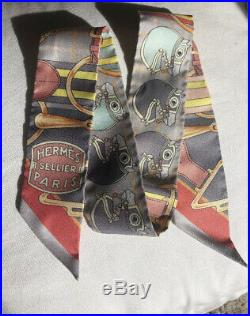 Hermes Twilly Sellier Paris Ultra Rare 100%silk Sold Out Limited Edition New