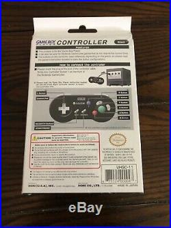 Hori GameCube Controller Black Game Boy Player ULTRA RARE U. S. VERSION New