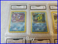 Huge Graded Pokemon Card 13 card Collection Promo Holo Prerelease 1st edition