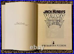 Jack Kirby's Heroes & Villains Ultra Rare Gold Lettering Edition Signed 74/100