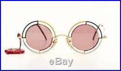 LIMITED EDITION, extraordinary ultra rare round CASANOVA eyeglasses, Mod. MTC-2