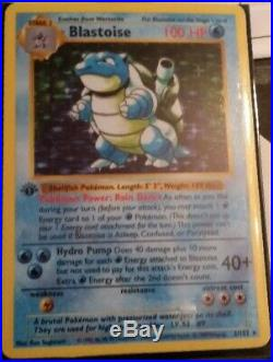 LOW OUTBID1$! Pokémon Blastoise 1st edition Old Holo Ultra Rare PSA10