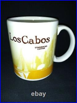 Los Cabos Starbucks Mug Made Mexico 2009 Ultra Rare Yellow Version Icon Whale