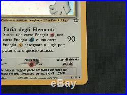 Lugia 1st Edition Holo Neo Genesis Perfect Condition Italian Ultra Rare N. 9/111