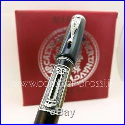 Marlen Aureus Stilografica Fountain Pen Silver Edition Medium Nib ULTRA RARE