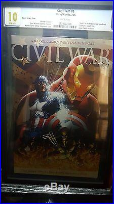 Marvel Civil War #1 CGC 10 Gem Mint Aspen Variant Ultra Rare HTF Not CBCS PGX