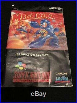Mega Man 7 Snes Pal Version! Ultra Rare + Good Condition! 100% Original