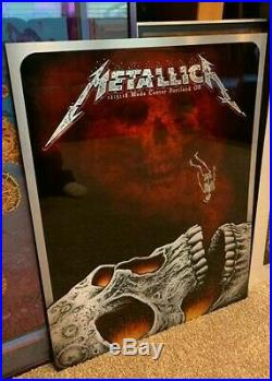 Metallica Portland 2018 by Emek Poster of the year Metal Variant foil ULTRA RARE