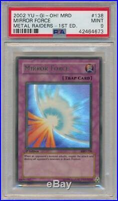 Mirror Force MRD-138 PSA Mint 9 Ultra Rare 1st Edition Yugioh Card 3Q6