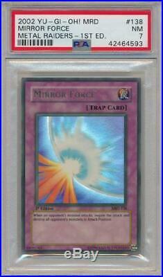 Mirror Force MRD-138 PSA NM 7 Ultra Rare 1st Edition Yugioh Card 3Q6