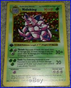 Nidoking 11/102 1st Edition First Ed Base Set Ultra Rare Holo Foil Pokemon Card