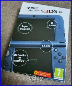 Nintendo 3DS XL Metallic Blue. BRAND NEW. ULTRA RARE. UK/EU version
