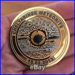 Olympic medal with the Chelyabinsk meteorite special limited edition-ultra rare