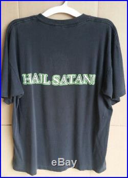 Original Vintage 1994 Marilyn Manson XL Shirt Hail Satan ULTRA RARE 1st version
