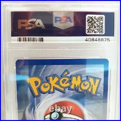 PSA 10 + 9 GEM MINT Glurak Deutsch 1 Edition Booster + Karte 1999 Pokemon Base