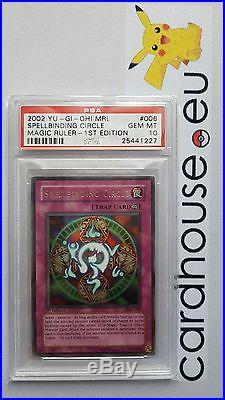 PSA 10 GEM MINT Spellbinding Circle 1st Edition MRL Ultra Rare Yu-Gi-Oh 2002