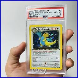 PSA 8 1st Edition Dark Dragonite Holo 5/82 Team Rocket NM Mint Pokemon Card