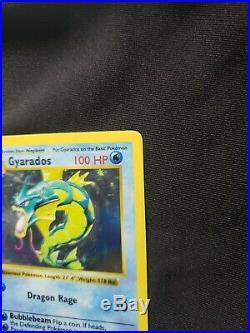 PSA 8 NM-MINT Gyarados 6/102 1ST EDITION Base Set Shadowless Pokemon Card