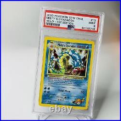 PSA 9 1st Edition Misty's Gyarados Holo 13/132 Gym Challenge MINT Pokemon Card