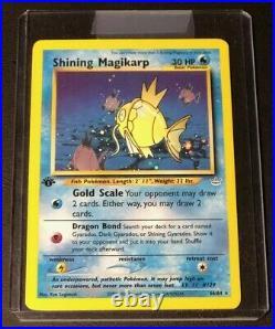 PSA 9 1st Edition Shining Gyarados, 1st Edition Shining Charizard+7 Shining cards