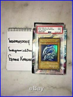 PSA 9 MINT 1st Edition Blue-Eyes White Dragon SDK-001 2002 Yu-Gi-Oh