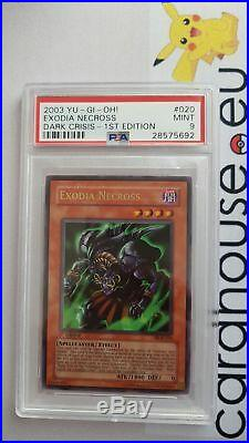 PSA 9 MINT Exodia Necross Dark Crisis DCR 1st Edition YuGiOh Ultra Rare
