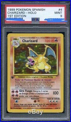 PSA 9 M I n t HOLO ULTRA RARE 1st Edition 4/102 In Span