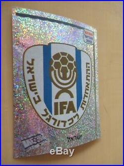 Panini World Cup 2002 WM original 577 badge Israel ultrarare mint Hebrew edition