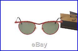 Persol Moschino NOS red rhinestones LTD edition ultra rare sunglasses