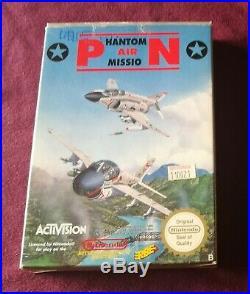 Phantom Air Mission Nintendo Nes Pal B Spanish Version! Ultra Rare! Holy Grial
