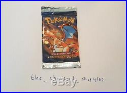 Pokemon 1st Edition Base Set Booster Pack Shadowless Factory Sealed Charizard