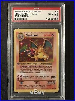 Pokemon Card PSA 10 1st Edition Base Set Charizard Holo 1999 4/102 Shadowless