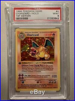 Pokemon Card PSA 9 1st Edition Base Set Charizard Holo 1999 4/102 Shadowless