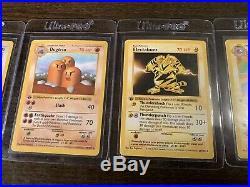 Pokemon Cards Complete 1st Edition Base Non-Holo Set 17-102 EX-NM-M Ultra Rare