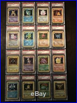 Pokemon Cards Complete PSA 9 1st Edition Base Holo Set 1-16 Includes Charizard