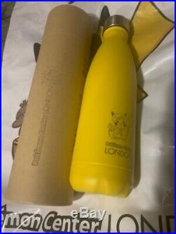 Pokemon Center London CHILLY's Flask Bottle Ultra RARE Yellow Limited Edition