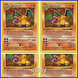 Pokémon Charizard 1st edition Old Holo Ultra Rare excellent condition