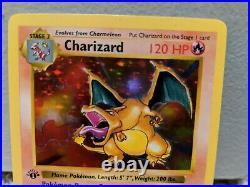 Pokemon Charizard 4/102 1st Edition Base Set Shadowless beautiful card