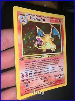 Pokemon, Dracaufeu 4/102 Édition 1, Bon État, Français