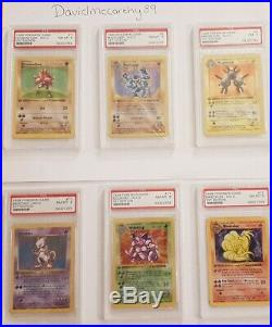 Pokemon First Edition shadowless base set holo cards PSA 7&8 includes Charizard