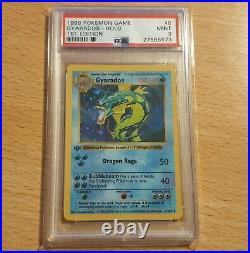 Pokemon Gyarados 1st Edition Base Set Shadowless Holo Card PSA 9 Graded MINT