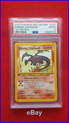 Pokémon Shining Charizard 1st Edition Neo Destiny PSA 2 GOOD